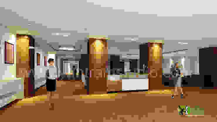 3D-Rendering Interior Design für kommerzielle Empfang Modern office buildings by Architectural Design Studio Modern