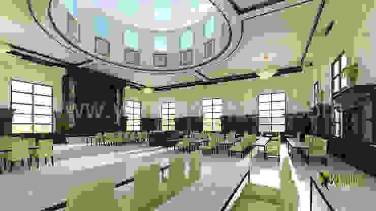 3D Interior Design Rendering für Comunity Halle Modern corridor, hallway & stairs by Architectural Design Studio Modern