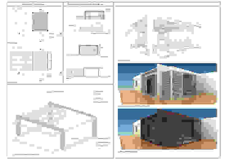 Балкон и терраса в стиле модерн от SolidART Digital Architecture Модерн