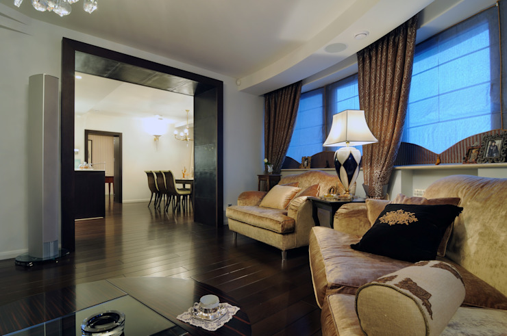 Квартира как номер-сьют в отеле. Гостиная в стиле модерн от Меречко Людмила Модерн