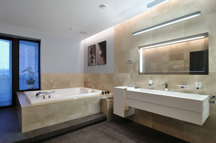 Квартира как номер-сьют в отеле. Ванная комната в стиле минимализм от Меречко Людмила Минимализм
