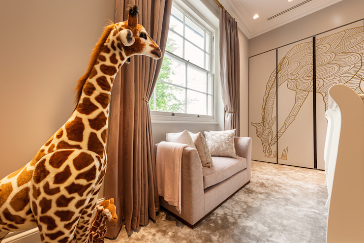 Children's room with bespoke luxury graphic Camouflage Modern style bedroom