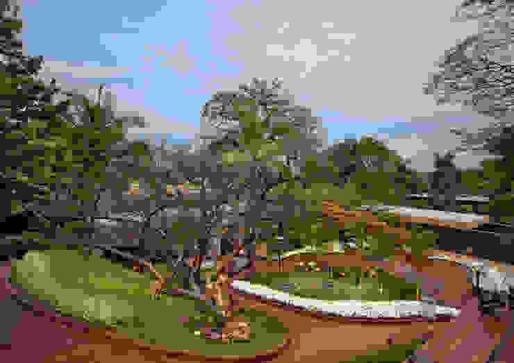 Casa Cor Belo Horizonte 2013 Espaços comerciais tropicais por CP Paisagismo Tropical