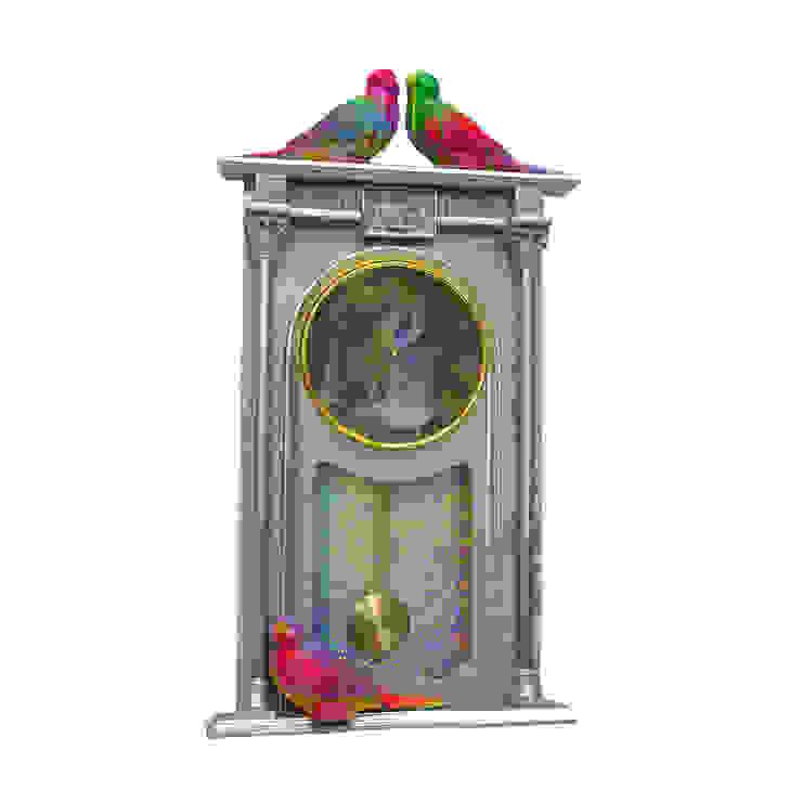 PIMPER'S PARADISE WALL CLOCK Wolf And Badger HaushaltAccessoires und Dekoration