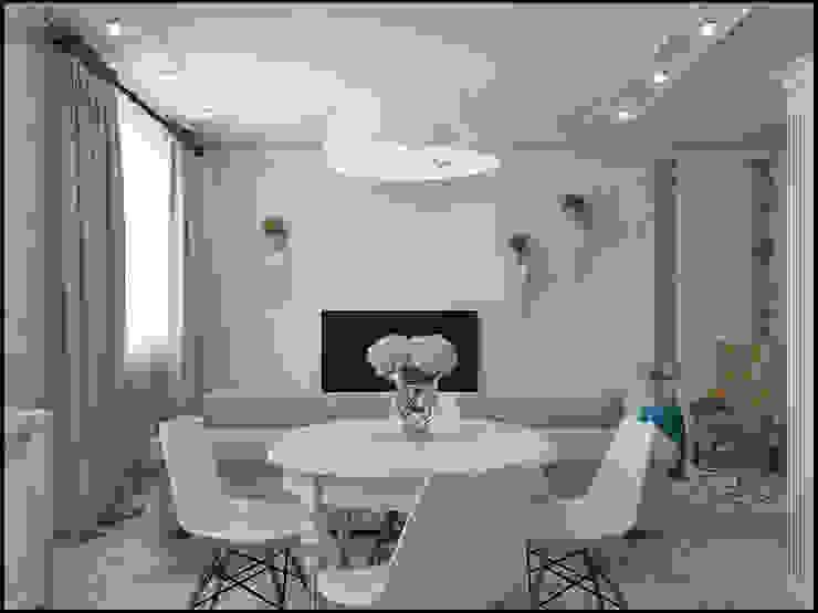 Микс фактуры и цвета Столовая комната в стиле модерн от Частный дизайнер и декоратор Девятайкина Софья Модерн