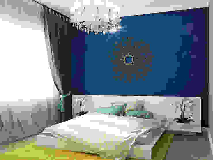 Микс фактуры и цвета Спальня в стиле модерн от Частный дизайнер и декоратор Девятайкина Софья Модерн