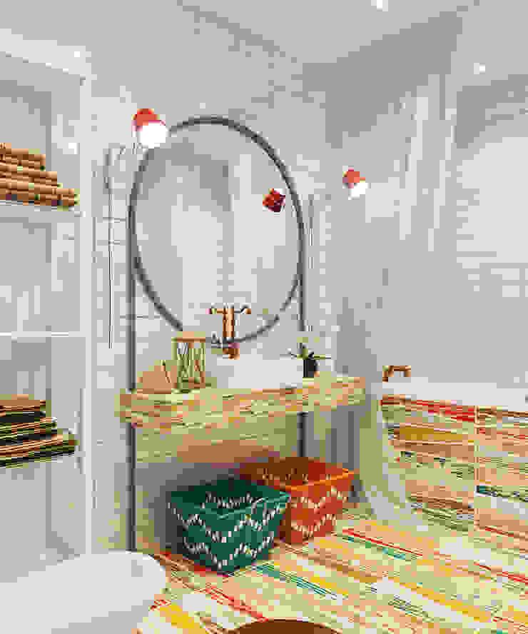 Микс фактуры и цвета Ванная комната в стиле модерн от Частный дизайнер и декоратор Девятайкина Софья Модерн