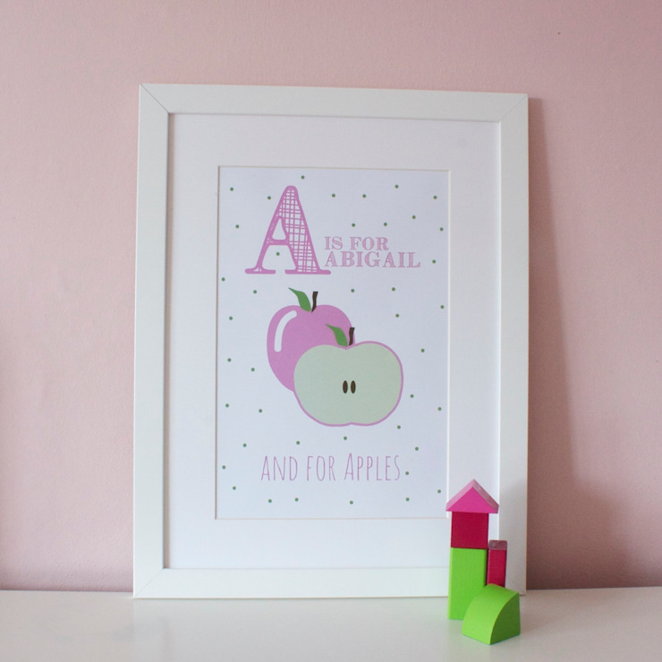 A is for Apples :: Personalised Print Hope & Rainbows Nursery/kid's roomAccessories & decoration