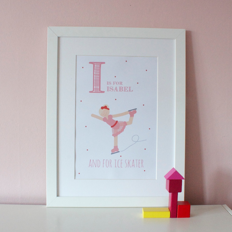 I is for Ice Skater :: Personalised Print Hope & Rainbows Nursery/kid's roomAccessories & decoration