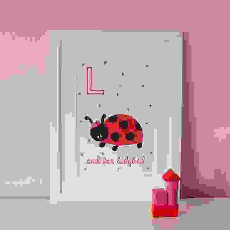 L is for Ladybird :: Personalised Print Hope & Rainbows Nursery/kid's roomAccessories & decoration