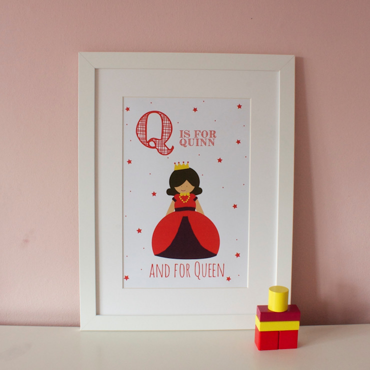 Q is for Queen :: Personalised Print Hope & Rainbows Nursery/kid's roomAccessories & decoration