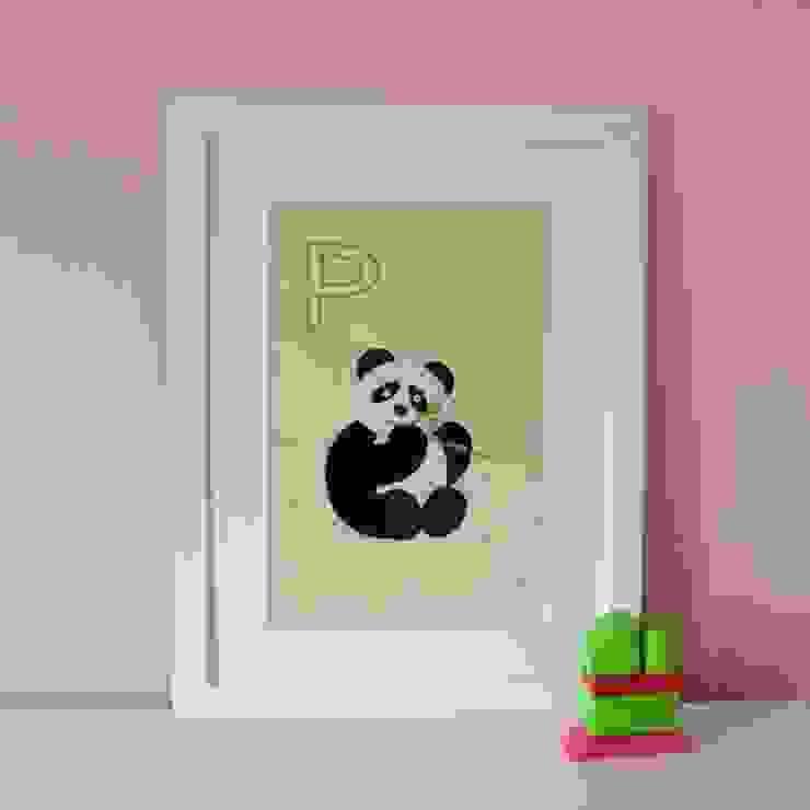 P is for Panda :: Personalised Print Hope & Rainbows Nursery/kid's roomAccessories & decoration