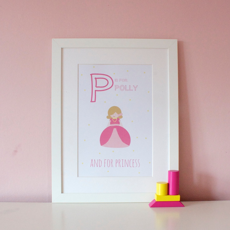 P is for Princess :: Personalised Print Hope & Rainbows Nursery/kid's roomAccessories & decoration