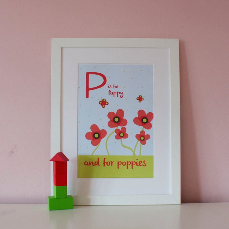 P is for Poppies :: Personalised Print Hope & Rainbows Nursery/kid's roomAccessories & decoration