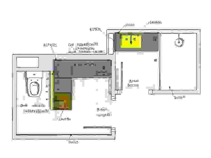 BAÑO EN DOS ESTANCIAS_Propuesta MIKELY de DEINDE Interiorismo Moderno