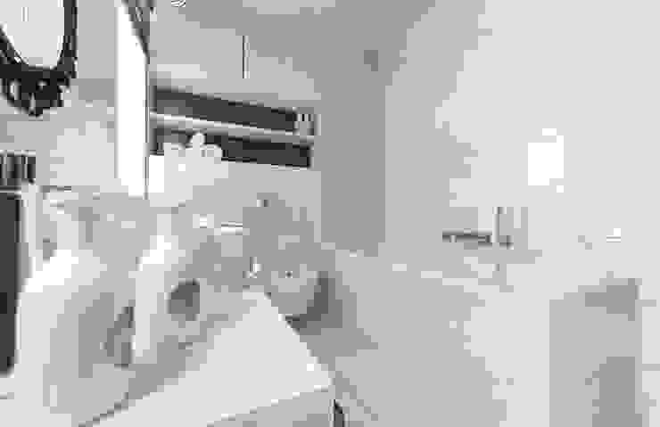 Łazienka BLACK & WHITE Minimalistyczna łazienka od D2 Studio Minimalistyczny