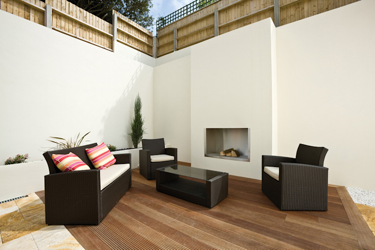 22 Chaddesley Glen Modern balcony, veranda & terrace by David James Architects & Partners Ltd Modern