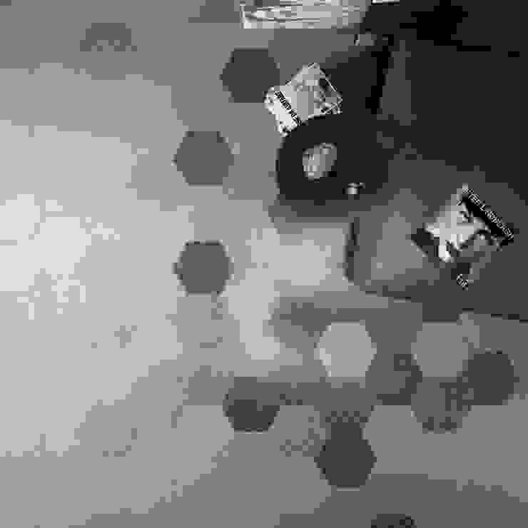 Hexagonal Floor Tiles Nowoczesne ściany i podłogi od Tileflair Nowoczesny