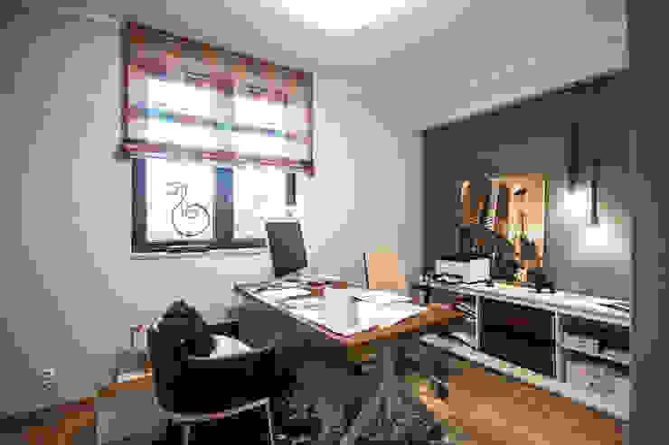 biuro w stylu loftowym od Inspiration Studio Nowoczesny