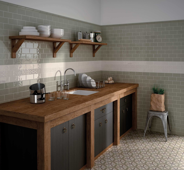 Brick Tile Series Tileflair Dinding & Lantai Gaya Country