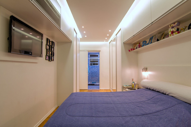 Apartamento Bom Retiro - 100m² Quartos minimalistas por Raphael Civille Arquitetura Minimalista