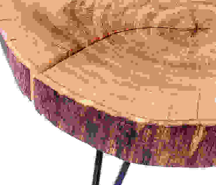 Stolik kawowy z drewna dębu - plaster. Onetree 8. od Onetree Minimalistyczny