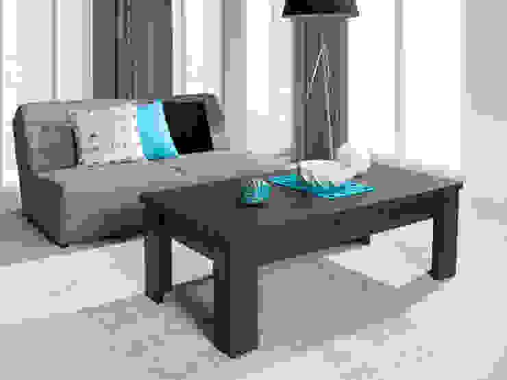 Mesa de salon Soria 135x55x45cm en color madera haya oscuro de Domensino Moderno
