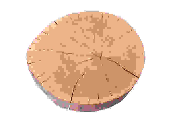 Stolik kawowy z drewna dębu - plaster. Onetree 10. od Onetree Minimalistyczny