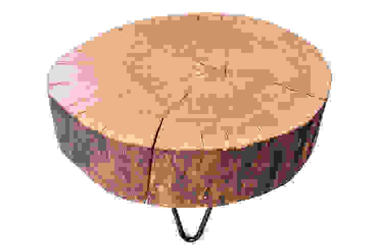 Stolik kawowy z drewna dębu - plaster. Onetree 10. od Onetree Skandynawski
