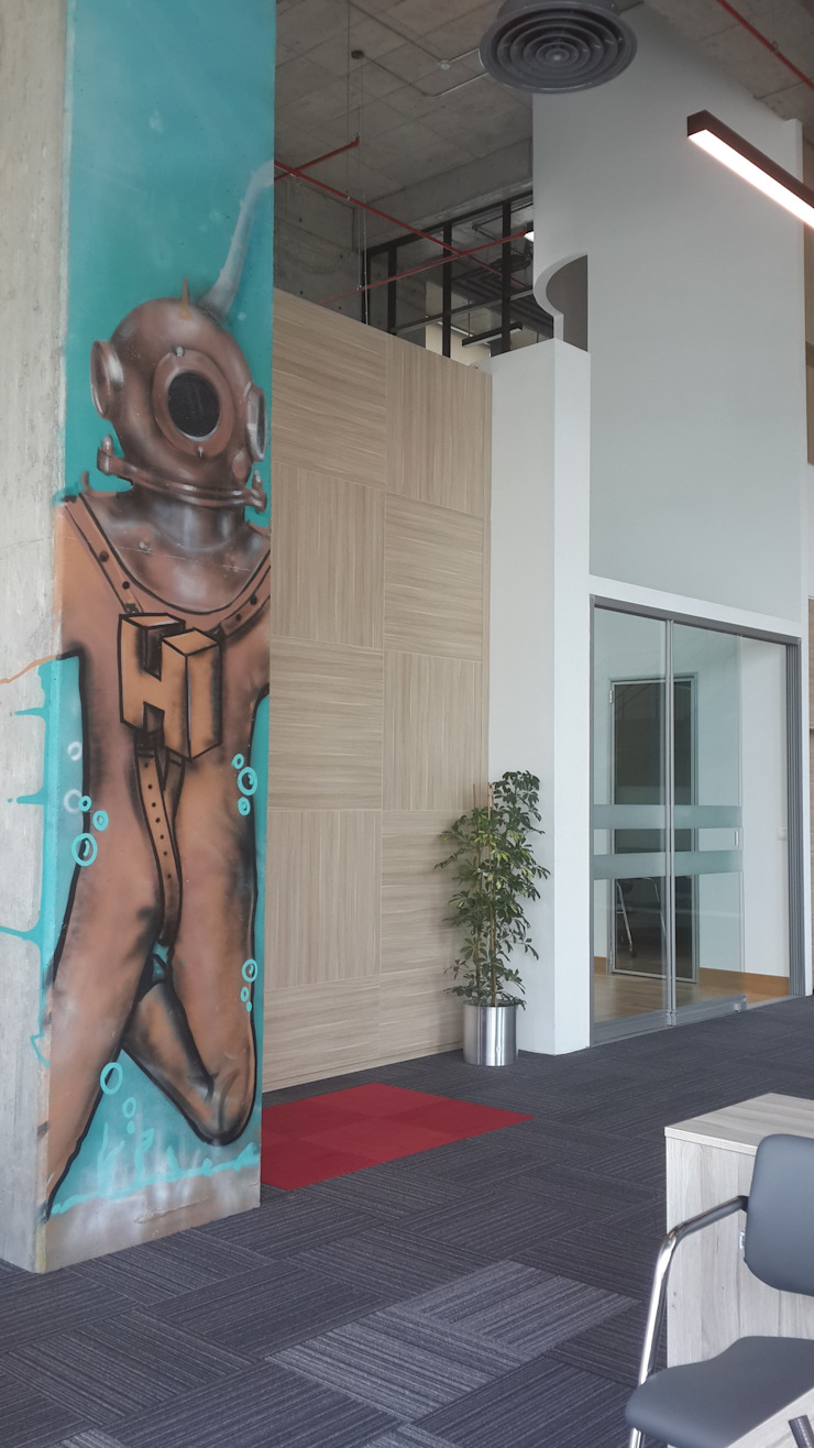 nihansagman – street art at the office: modern tarz , Modern