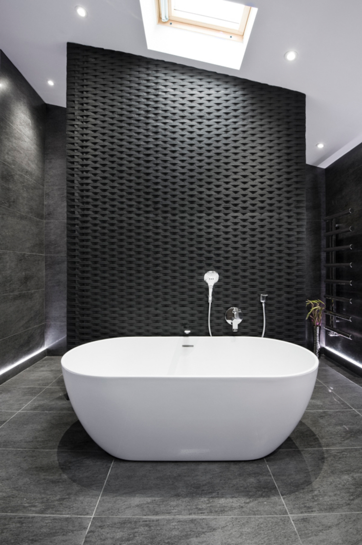 Rock Star Bathroom Moderne badkamers van Lisa Melvin Design Modern