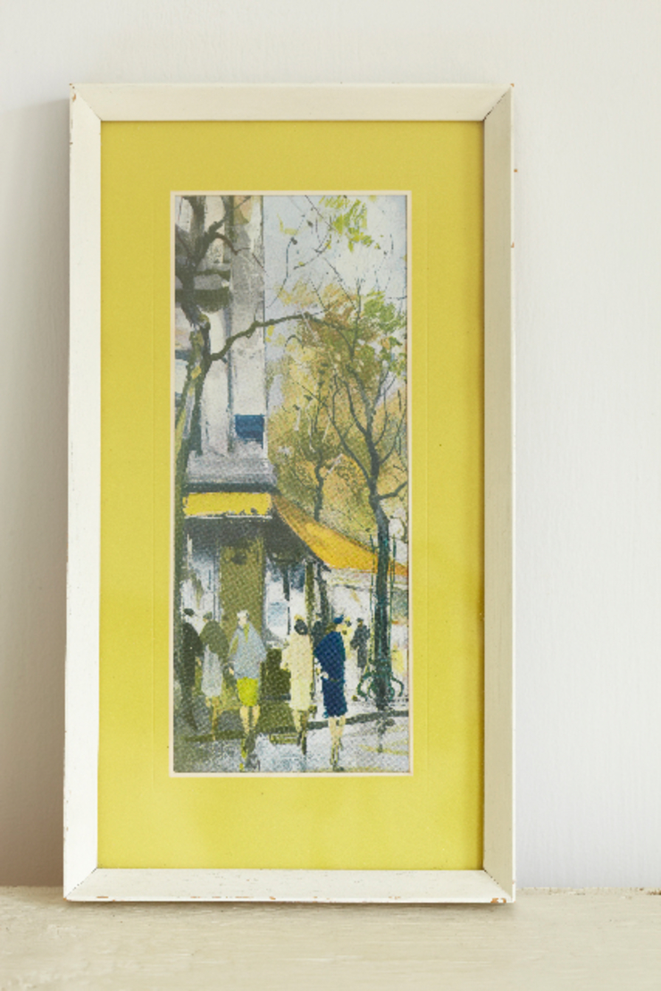 Framed print of Paris street scene. The OK Corral Living roomAccessories & decoration