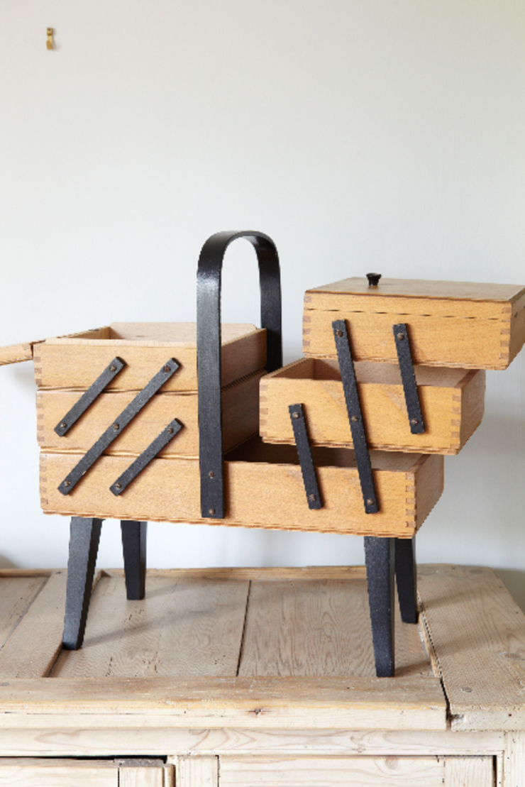 Wooden sewing box The OK Corral HouseholdStorage