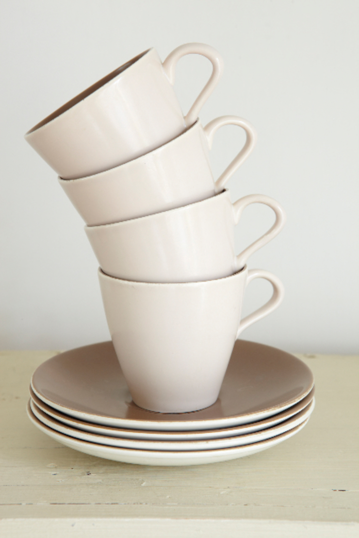 Mid-century Poole ceramic cups and saucers The OK Corral KitchenCutlery, crockery & glassware