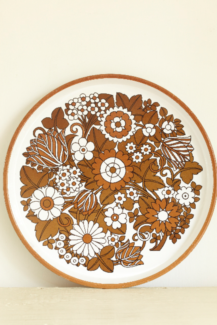 Circular printed metal tray The OK Corral KitchenAccessories & textiles