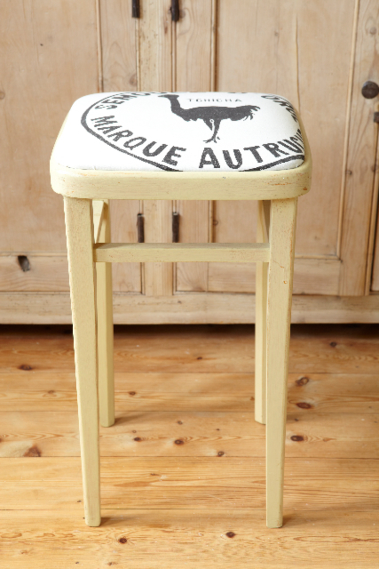 Kitchen stool with hand printed seat from www.randomretail.co.uk The OK Corral KitchenTables & chairs