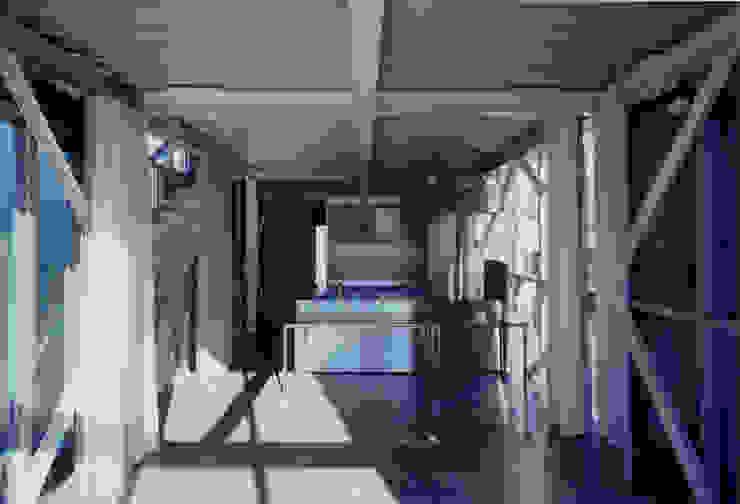 2階 弟世帯LDK モダンデザインの ダイニング の 井戸健治建築研究所 / Ido, Kenji Architectural Studio モダン
