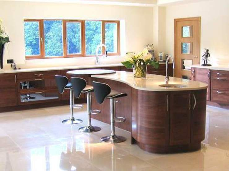 Modern Open Plan Family Kitchen near Romsey, Hampshire Modern Mutfak Solent Kitchen Design Ltd Modern