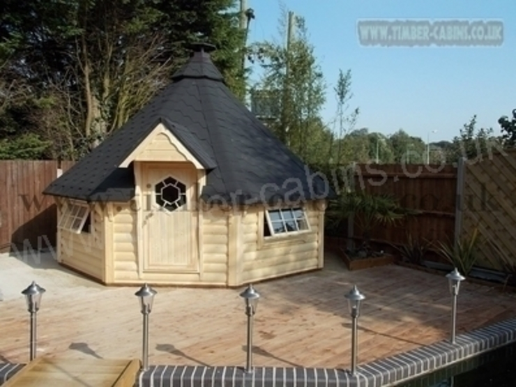 Kota grill BBQ cabin Kolonyal Bahçe Hallgate Timber Kolonyal