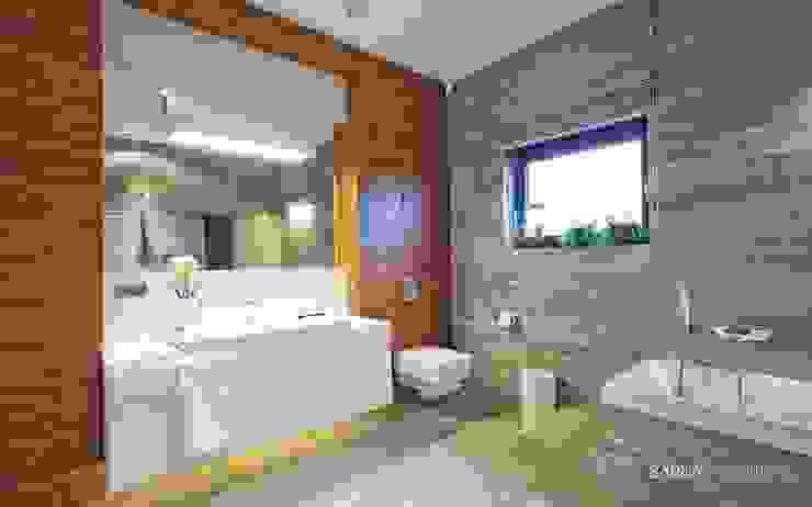HOUSE WITH A PERSPECTIVE SARNA ARCHITECTS Interior Design Studio Nowoczesna łazienka