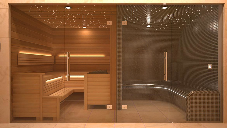 Steam and Sauna Design & Installation. โดย Nordic Saunas and Steam โมเดิร์น