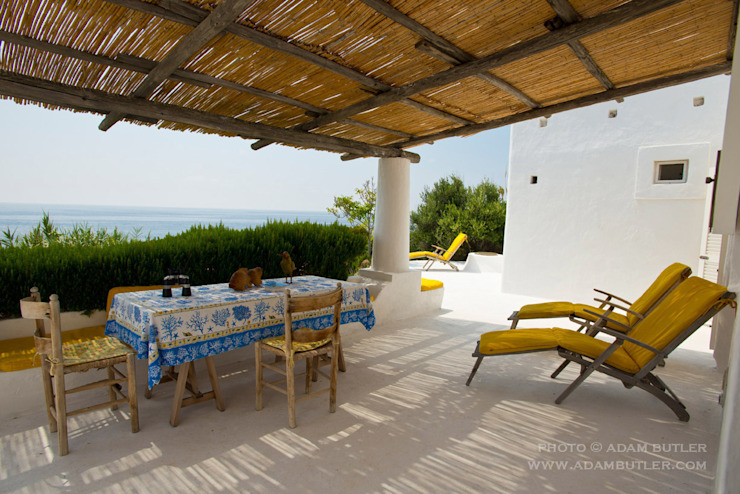 Casa Menne, Panarea, Aeolian Islands, Sicily Adam Butler Photography Mediterranean style balcony, veranda & terrace
