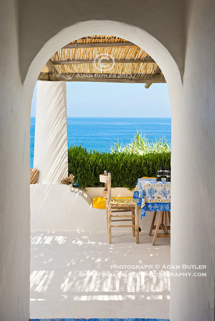Casa Menne, Panarea, Aeolian Islands, Sicily Adam Butler Photography Mediterranean style corridor, hallway and stairs