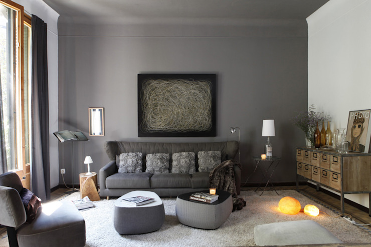 Living room by Deu i Deu, Eclectic