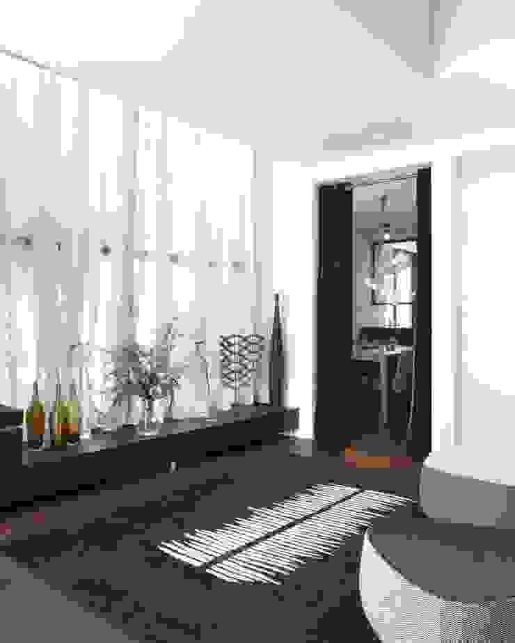 Casa Valldoreix. 2003 Pasillos, vestíbulos y escaleras de estilo moderno de Deu i Deu Moderno