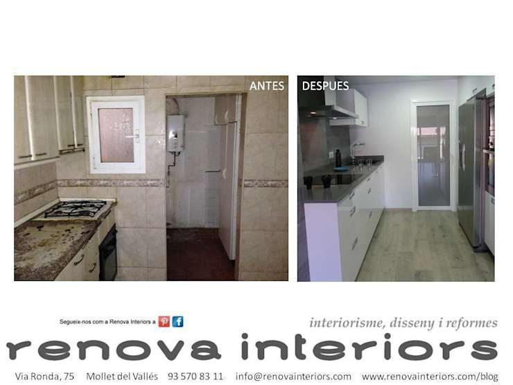 ANTES Y DESPUÉS COCINA P.L. RENOVA INTERIORS