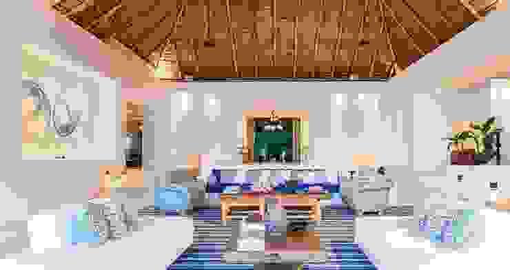 Salas de estar  por BR  ARQUITECTOS, Tropical