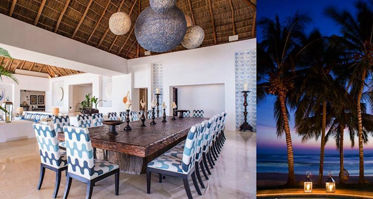 Tropical style dining room by BR ARQUITECTOS Tropical
