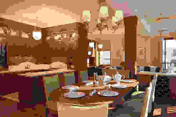 Американское влияние Столовая комната в эклектичном стиле от Format A5 Fontanka Эклектичный