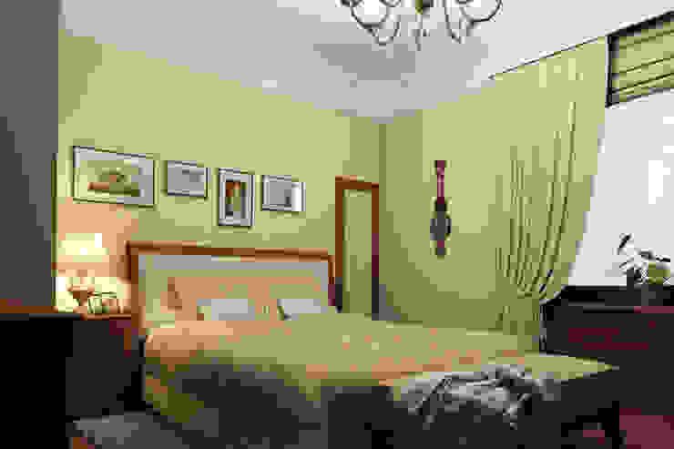 Американское влияние Спальня в эклектичном стиле от Format A5 Fontanka Эклектичный